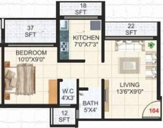 645 sqft, 1 bhk Apartment in KD Shelter Karanjade, Mumbai at Rs. 35.0000 Lacs