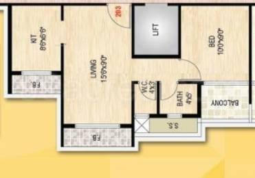 650 sqft, 1 bhk Apartment in Builder sai rachana kamothe Sector 21 Kamothe, Mumbai at Rs. 44.2000 Lacs