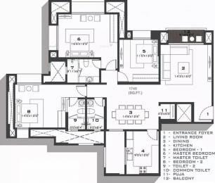 1749 sqft, 3 bhk Apartment in Hiranandani Brentwood Navallur, Chennai at Rs. 1.2500 Cr