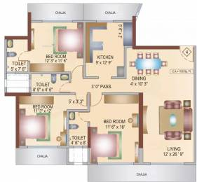 1539 sqft, 3 bhk Apartment in Bhoomi Aura Biplex Borivali West, Mumbai at Rs. 3.3000 Cr