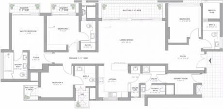 2625 sqft, 4 bhk Apartment in TATA Primanti Sector 72, Gurgaon at Rs. 55000