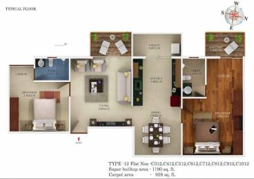 1190 sqft, 2 bhk Apartment in Aratt Premier ITPL, Bangalore at Rs. 75.0000 Lacs