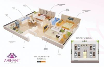 1070 sqft, 2 bhk Apartment in Shalwak Arihant Apartment Gayatri nagar, Nagpur at Rs. 15000