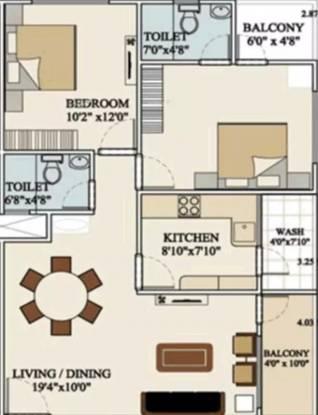 1113 sqft, 2 bhk Apartment in Vastu Siddhanta Niketan Super Corridor, Indore at Rs. 25.0000 Lacs