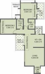 1100 sqft, 2 bhk Apartment in Anshul Eva C Building Bavdhan, Pune at Rs. 15000