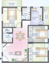 924 sqft, 3 bhk Apartment in Aryan Fountain Square Attibele, Bangalore at Rs. 28.5000 Lacs