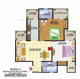 1058 sqft, 2 bhk Apartment in Techman Moti Residency Raj Nagar Extension, Ghaziabad at Rs. 28.0000 Lacs