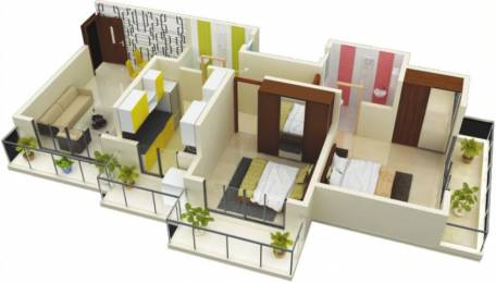 935 sqft, 2 bhk Apartment in Kothari Vinay Hermitage Mira Road East, Mumbai at Rs. 65.0000 Lacs