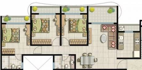 1173 sqft, 3 bhk Apartment in SK Imperial Heights Mira Road East, Mumbai at Rs. 98.0000 Lacs