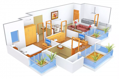 1295 sqft, 2 bhk Apartment in Supertech Araville Sector 79, Gurgaon at Rs. 65.0000 Lacs