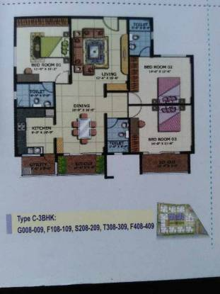 1685 sqft, 3 bhk Apartment in ATZ Splendor Thanisandra, Bangalore at Rs. 75.0000 Lacs