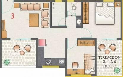 746 sqft, 2 bhk Apartment in Kohinoor Nano Homes Ravet, Pune at Rs. 13000