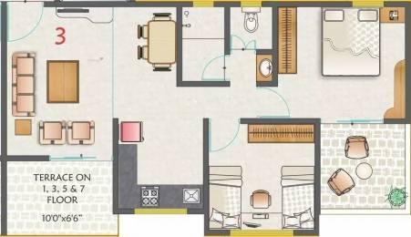851 sqft, 2 bhk Apartment in Kohinoor Nano Homes Ravet, Pune at Rs. 13000