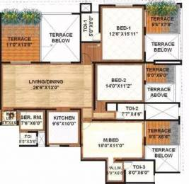 2197 sqft, 3 bhk Apartment in Sanskruti Terraza Aundh, Pune at Rs. 37000
