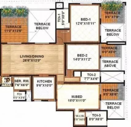 2197 sqft, 3 bhk Apartment in Sanskruti Terraza Aundh, Pune at Rs. 2.8900 Cr