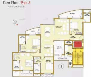 2900 sqft, 4 bhk Apartment in ATS One Hamlet Sector 104, Noida at Rs. 70000