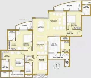 3150 sqft, 4 bhk Apartment in ATS One Hamlet Sector 104, Noida at Rs. 60000