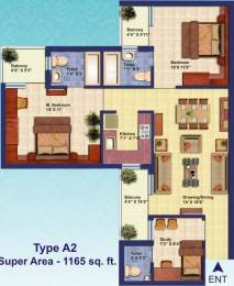 1165 sqft, 2 bhk Apartment in Divine Divine Meadows Sector 108, Noida at Rs. 13000