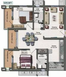 1270 sqft, 2 bhk Apartment in Vertex Panache Kokapet, Hyderabad at Rs. 59.4350 Lacs