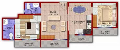 909 sqft, 2 bhk Apartment in Vakil Whispering Woods Residences Chandapura, Bangalore at Rs. 10000