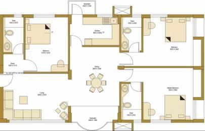 1566 sqft, 3 bhk Apartment in Bengal Peerless Avidipta Mukundapur, Kolkata at Rs. 32000