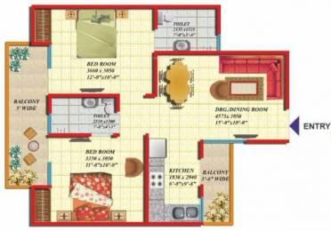 920 sqft, 2 bhk Apartment in Gaursons India Ltd. Gaur Greenvista Phase 2 nyay khand 1 indirapuram ghaziabad, Ghaziabad at Rs. 52.0000 Lacs