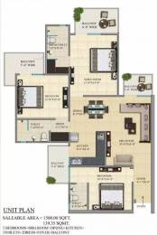 1500 sqft, 3 bhk Apartment in Gaursons 1st Avenue Sector 4 Noida Extension, Greater Noida at Rs. 13000