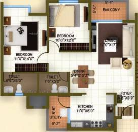 1181 sqft, 2 bhk Apartment in Ajmera Avenue Electronic City Phase 1, Bangalore at Rs. 76.5000 Lacs