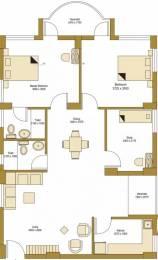 1347 sqft, 2 bhk Apartment in Bengal Peerless Avidipta Mukundapur, Kolkata at Rs. 36000