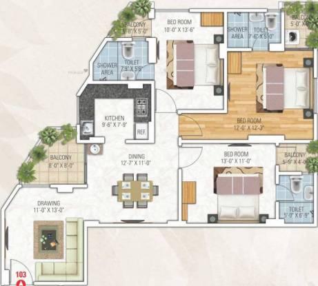 1541 sqft, 3 bhk Apartment in Kotecha Royal Tatvam Mansarovar Extension, Jaipur at Rs. 50.5100 Lacs