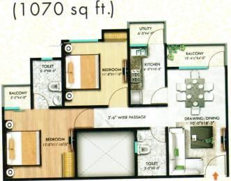 1070 sqft, 2 bhk Apartment in SSG Shiv Sarovar Ajmer Road, Jaipur at Rs. 26.0000 Lacs