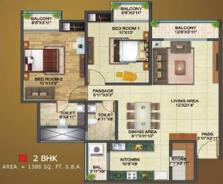 1386 sqft, 2 bhk Apartment in SSG Shivraj Residency Ashok Nagar, Jaipur at Rs. 32.1000 Lacs