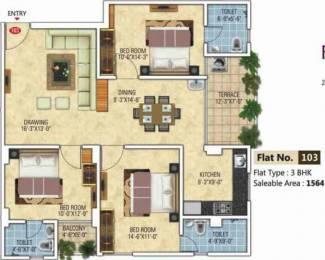 1564 sqft, 3 bhk Apartment in Kotecha Royal Florence Mansarovar Extension, Jaipur at Rs. 52.6000 Lacs