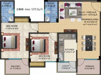 1275 sqft, 2 bhk Apartment in SSG Shivalika Gokulpura, Jaipur at Rs. 41.0000 Lacs