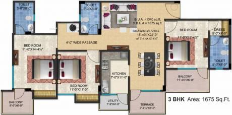 1675 sqft, 3 bhk Apartment in SSG Shivalika Gokulpura, Jaipur at Rs. 57.0000 Lacs