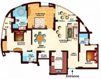 1655 sqft, 3 bhk Apartment in Eldeco Olympia Sector 93A, Noida at Rs. 1.0000 Cr