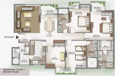 2255 sqft, 3 bhk Apartment in 3C Lotus Boulevard Espacia Sector 100, Noida at Rs. 25000