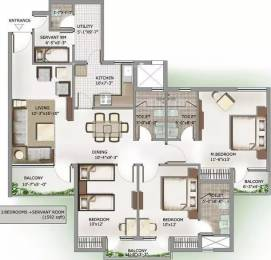 1592 sqft, 3 bhk Apartment in 3C Lotus Panache Sector 110, Noida at Rs. 17000