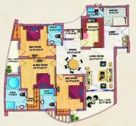2150 sqft, 3 bhk Apartment in Eldeco Olympia Sector 93A, Noida at Rs. 26000
