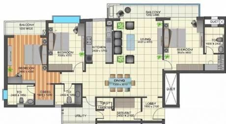 2250 sqft, 3 bhk Apartment in TGB Meghdutam Sector 50, Noida at Rs. 43000