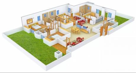 2955 sqft, 4 bhk Apartment in Purvanchal Royal Park Sector 137, Noida at Rs. 40000