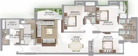 1702 sqft, 3 bhk Apartment in 3C Lotus Boulevard Sector 100, Noida at Rs. 30000