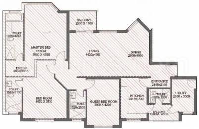 1280 sqft, 3 bhk Apartment in Jaypee Kosmos Sector 134, Noida at Rs. 11500