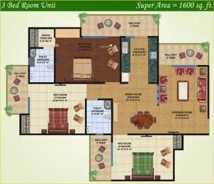 1600 sqft, 3 bhk Apartment in Saviour Greenisle Crossing Republik, Ghaziabad at Rs. 47.0000 Lacs