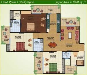 1800 sqft, 3 bhk Apartment in Saviour Greenisle Crossing Republik, Ghaziabad at Rs. 46.0000 Lacs