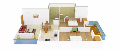 1050 sqft, 2 bhk Apartment in Supertech Livingston Crossing Republik, Ghaziabad at Rs. 32.0000 Lacs