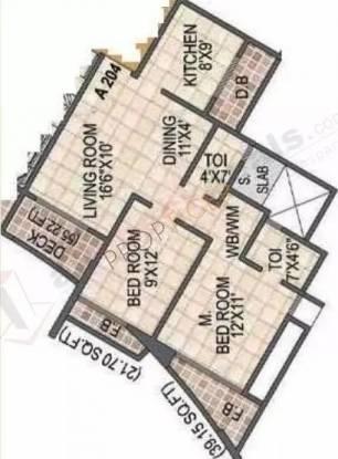 1130 sqft, 2 bhk Apartment in Arihant Aradhana Kharghar, Mumbai at Rs. 21000