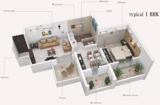665 sqft, 1 bhk Apartment in Prime Utsav Homes Bavdhan, Pune at Rs. 47.0000 Lacs