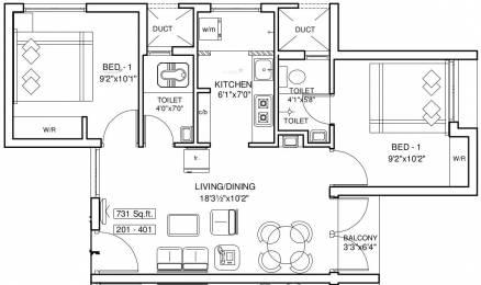 731 sqft, 2 bhk Apartment in ETA Globevill Sriperumbudur, Chennai at Rs. 25.0000 Lacs