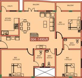 1490 sqft, 3 bhk Apartment in Vmaks Rio Electronic City Phase 2, Bangalore at Rs. 16000
